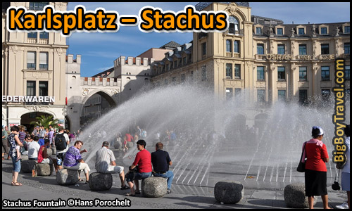 Free Munich Walking Tour Map Old Town - Karlsplatz Stachus Fountain