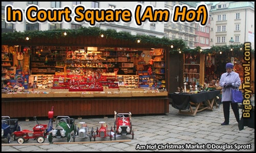 Free Vienna Walking Tour Map Old Town Austria - In Court Square Am Hof Christmas Market Vidobona