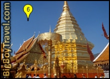 Getting To Wat Doi Suthep From Chiang Mai Map, Golden Chedi