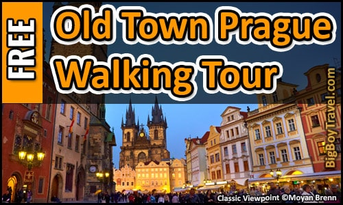Free Prague Walking Tour Map Old Town Stare Mesto