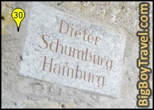 Free Old Town Rothenburg Walking Tour Map - City Wall Plaque