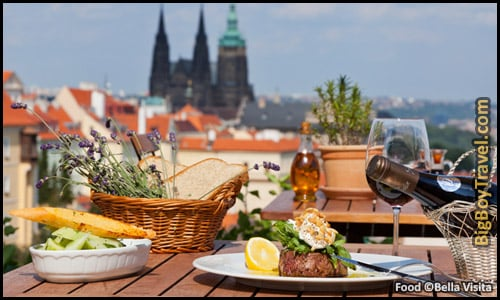 Free Little Quarter Walking Tour Map Prague - Lesser Town Bellavista Terrace Restaurant