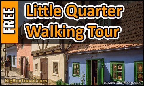 Free Little Quarter Walking Tour Map Prague Castle - Lesser Town