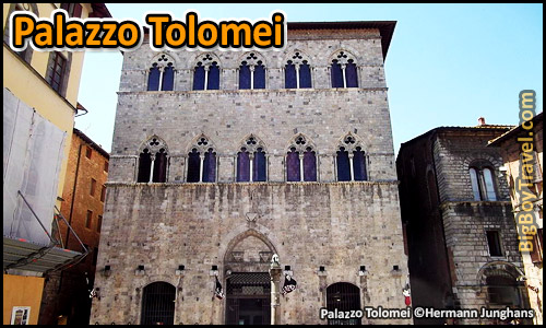 Free Siena Walking Tour Map - Palazzo Tolomei Piazza Oldest House Gothic