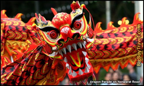 Chinese New Year In Bangkok Thailand Event schedule - Dragon Parade Dancers Yaowarat road