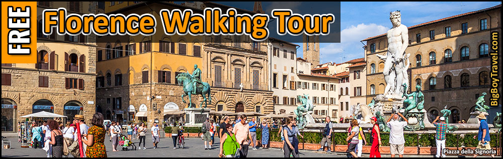 Free Florence Walking Tour Map -Self Guided Firenze Italy