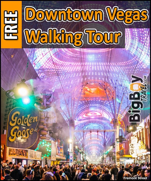 Free Downtown Las Vegas Walking Tour Map Fremont Street