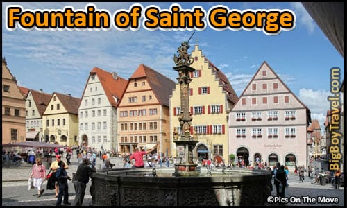 Free Rothenburg Walking Tour Map Old Town Guide Medieval City Center - Renaissance Dragon Fountain of Saint George Knight Sankt Georgsbrunnen