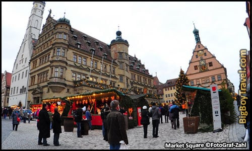 Free Rothenburg Walking Tour Map Old Town Guide Medieval City Center - Market Square Christmas