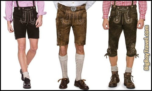 How To Dress For Oktoberfest In Munich Outfit Clothing Guide What To Wear For Oktoberfest - Mens Ledershosen Options German Leather Shorts Pants