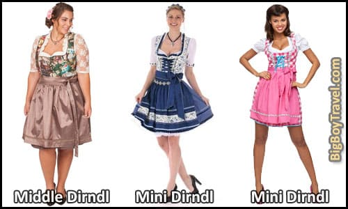 How To Dress For Oktoberfest In Munich Outfit Clothing Guide What To Wear For Oktoberfest - Women's Traditional German Drindl Length