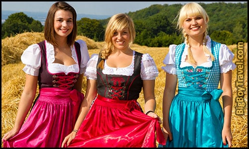 How To Dress For Oktoberfest In Munich Outfit Clothing Guide What To Wear For Oktoberfest - Women's Traditional German Drindl Dresses Bavarian