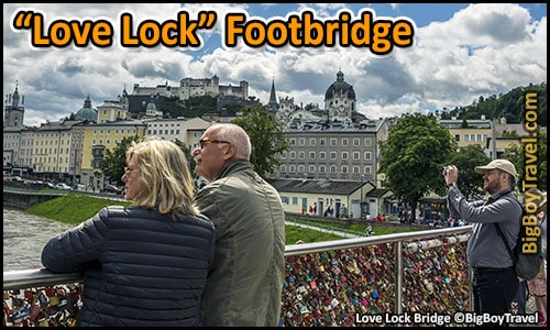 Top 10 Best Viewpoints in Salzburg Austria Most Beautiful Scenic City Views - love lock bridge salzach river marktsteg footbridge