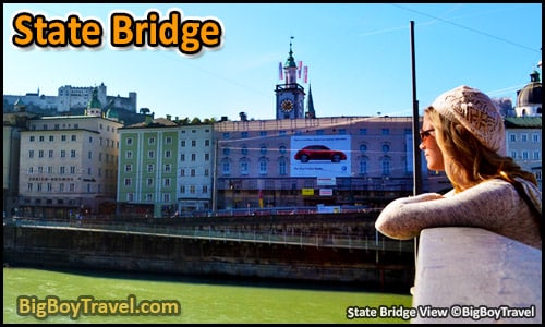 Top 10 Best Viewpoints in Salzburg Austria Most Beautiful Scenic City Views - State Bridge Salzach River Staatsbrücke