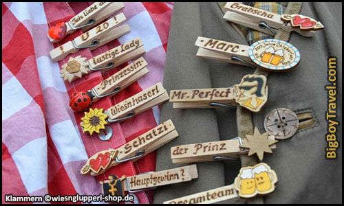 How To Dress For Oktoberfest In Munich Outfit Clothing Guide What To Wear For Oktoberfest - Wiesn Glupperl Klammern Oktoberfest Name tag Clothespins