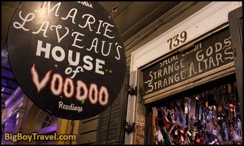 FREE New Orleans Garden District Walking Tour Map Mansions - Marie Laveau's House Of Voodoo shop 739 Bourbon Street