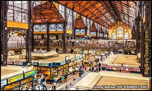 free budapest walking tour map central pest monuments - Grand Market Hall Central