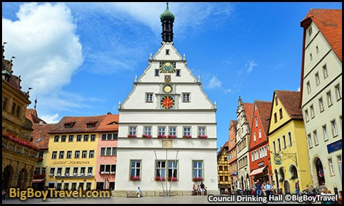 Free Rothenburg Walking Tour Map Old Town Guide Medieval City Center - Council Drinking Hall Ratstrinkstube clocks Master draught