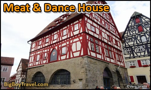 Free Rothenburg Walking Tour Map Old Town Guide Medieval City Center - Meat & Dance House