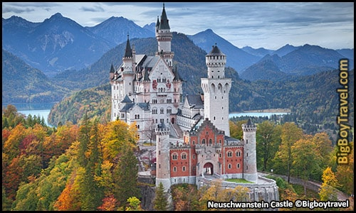 top castles in germany to visit and see best to tour - Neuschwanstein Castle Walt Disney Sleeping Beauty