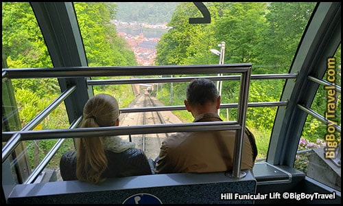 Free Old Town Heidelberg Walking Tour Map Germany - Hill Funicular Lift bergbahn
