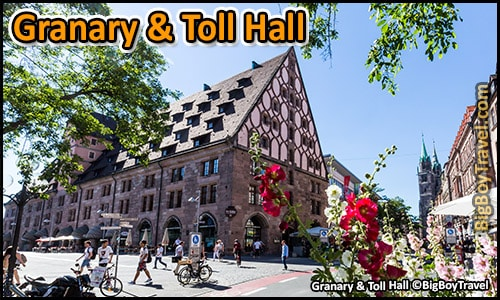 Free Old Town Nuremberg Walking Tour Map - Granary Toll Hall Mauthalle