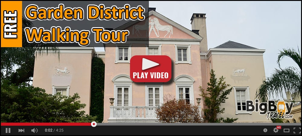 FREE Garden District Walking Tour Map in New Orleans Mansions - Self Guided